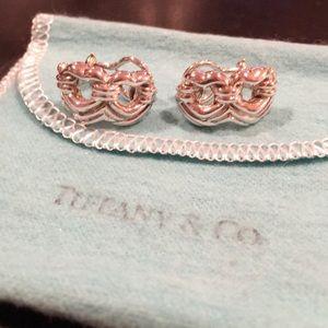 Tiffany & Co. Rare Double Heart Earrings